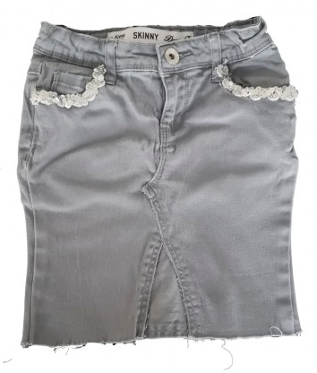 Sivo jeans krilo do kolen DenimCo
