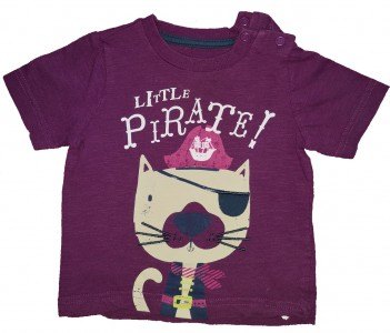 Vijolična kratka majica little pirate Mothercare
